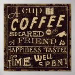 Amigos y café impresiones