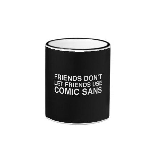 Amigos y cómico sin tazas