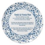 Amigos y placa 2 de la familia plato