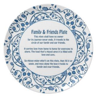 Amigos y placa 2 de la familia platos para fiestas
