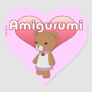 Amigurumi Love Heart Stickers