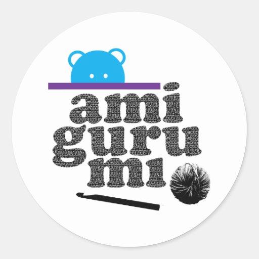 amigurumi round sticker