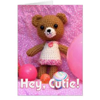 Amigurumi Teddy Bear Greeting Card