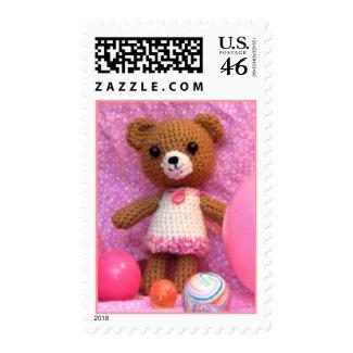Amigurumi Teddy Bear Postage stamp