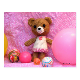 Amigurumi Teddy Bear Postcard