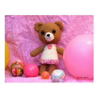Amigurumi Teddy Bear Postcard