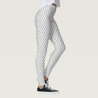 Amime Japanese Pattern Black and White Leggings