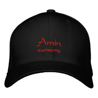 Amin Name Cap / Hat Embroidered Hats