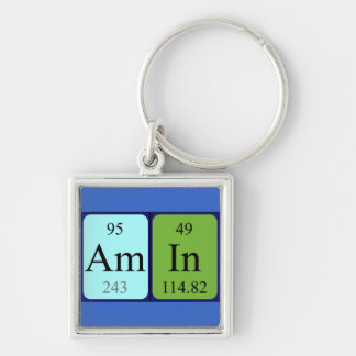 Amin periodic table name keyring keychains