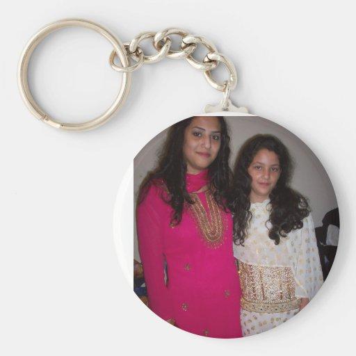 AMINA and ME Basic Round Button Keychain
