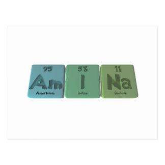 Amina  as Americium Iodine Sodium Postcard