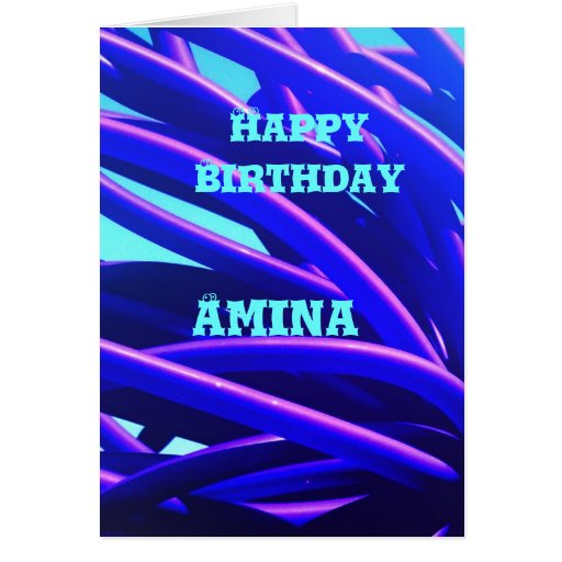 Amina Greeting Card