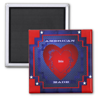 Amina 2 Inch Square Magnet