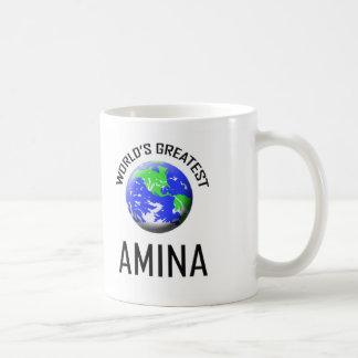Amina más grande del mundo taza de café