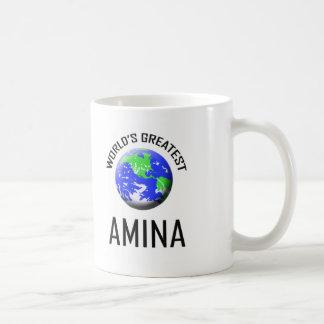 Amina más grande del mundo tazas de café