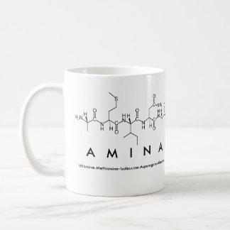 Amina peptide name mug
