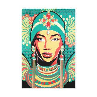 Aminata artwork one stretched canvas canvas print