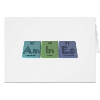 Amines-Am-In-Es-Americium-Indium-Einsteinium Card