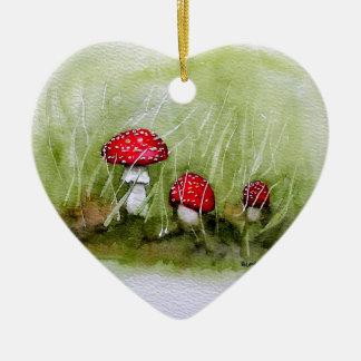 Aminita Muscaria mushroom Ceramic Ornament