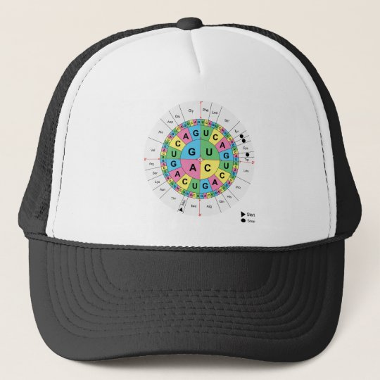 Amino Acid Base Sequence Table Diagram Trucker Hat