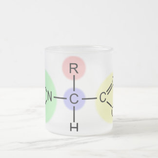 Amino Acid Diagram Frosted Glass Coffee Mug