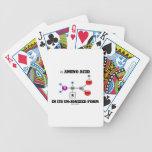 aminoácido alfa en su forma sindicada (molécula) baraja cartas de poker
