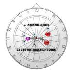 aminoácido alfa en su forma sindicada (molécula) tablero dardos