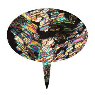 Aminoácido de la alanina debajo del microscopio figuras para tartas