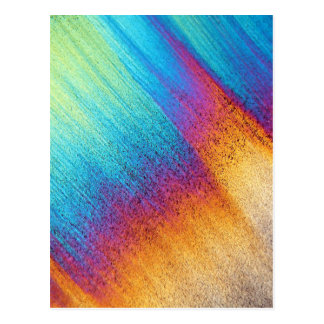 Aminoácido debajo del microscopio tarjeta postal