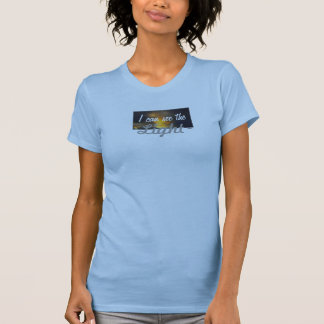 Amiot Gallery I can see the light pale blue Top Tshirt