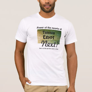 Amiot Gallery Power of the people U-White T-shirt