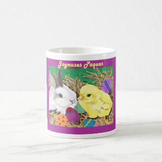 Amis de Paques (amigos de Pascua) Taza Básica Blanca