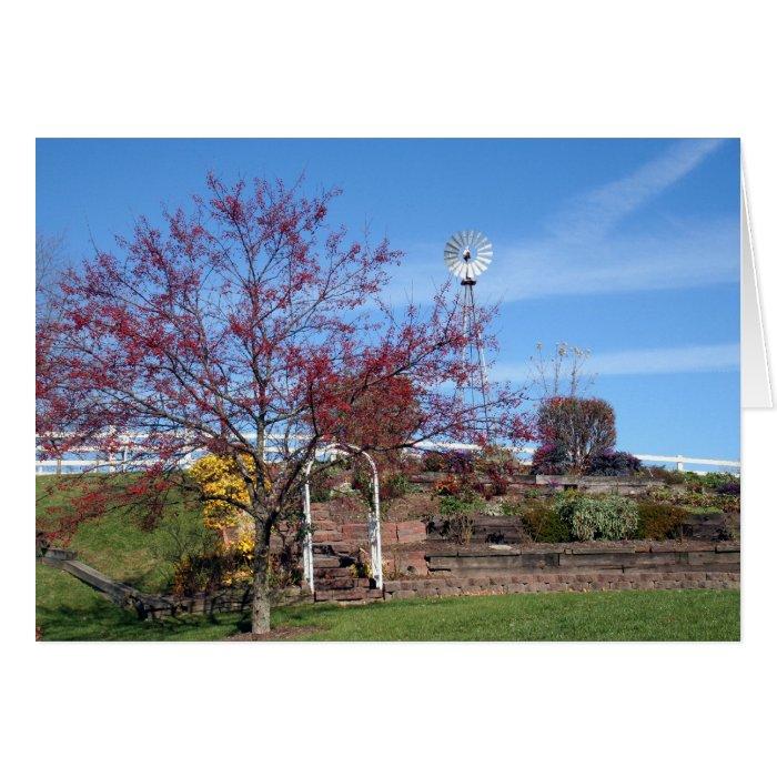 Amish Autumn Garden Card