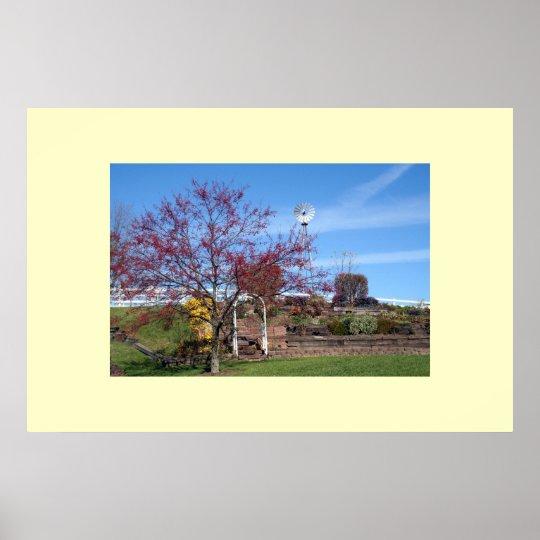 Amish Autumn Garden Poster