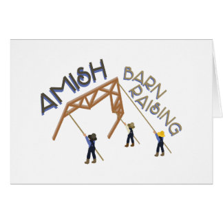 Amish Barn Raising Card
