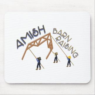 Amish Barn Raising Mouse Pad
