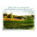 Amish Bible Postcard. Proverb.Add Store Name Postcard