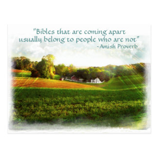Amish Bible Postcard. Proverb.Add Store Name