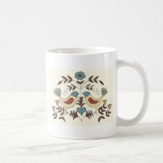 Amish Birds Cottage Chic Distlefink Coffee Mug