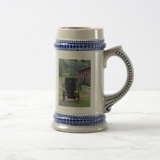 Amish Buggie - Holmes Co OH, HolmesCountyOhio Beer Stein