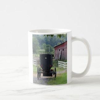 Amish Buggie - Holmes Co OH Tazas De Café