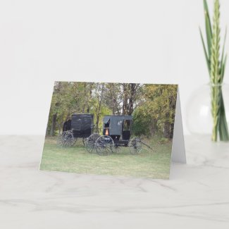 Amish Buggies card