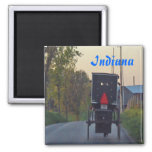 Amish Buggy 2 Inch Square Magnet
