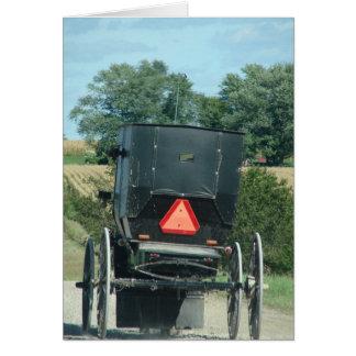 Amish Buggy Card