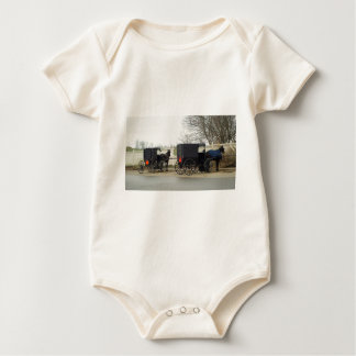 "Amish Buggy ""Parking Lot"" Baby Bodysuit"