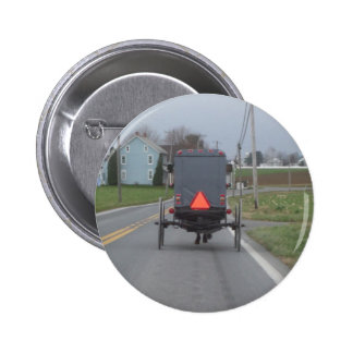 Amish Buggy Pinback Button