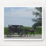 Amish buggy ride mouse pad