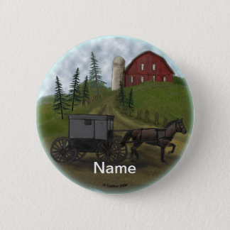 Amish Buggy Visiting custom name pin