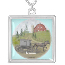 Amish Buggy Visiting necklace