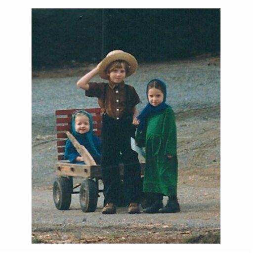 AMISH CHILDREN PHOTO SCULPTURE